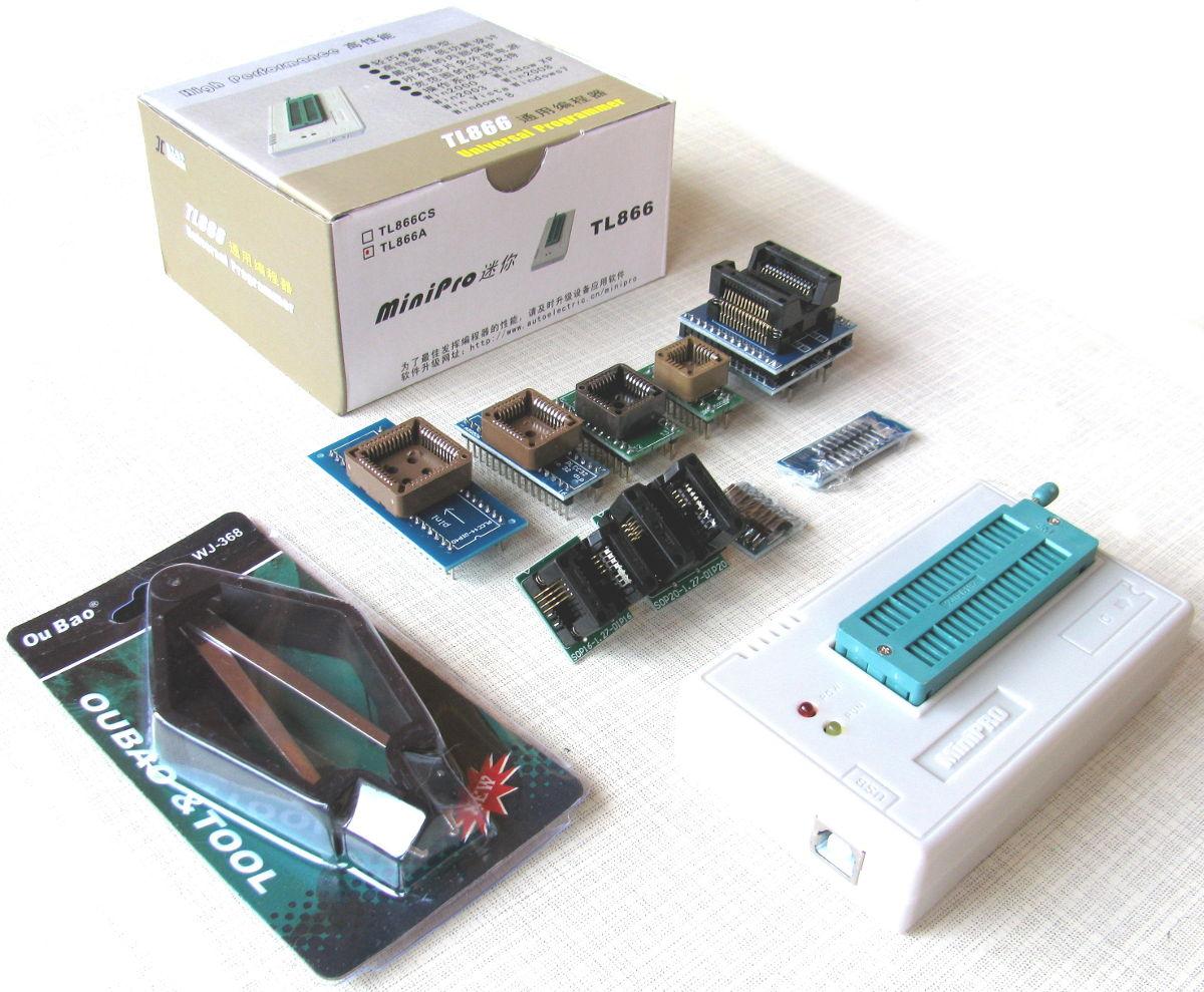 программатор MiniPro TL866A + 10 адаптеров